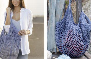 Pacific Blues Crochet Bag [FREE Crochet Pattern]   thecrochetfox.com