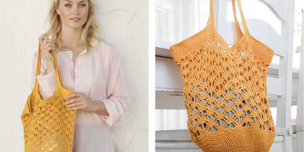 Crochet Pineapple Tote [FREE Crochet Pattern] | thecrochetfox.com