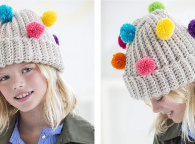 Plainfield Pom Pom Hat [FREE Crochet Pattern] | thecrochetfox.com