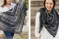 Polished Marble Crocheted Shawl [FREE Crochet Pattern] | thecrochetfox.com