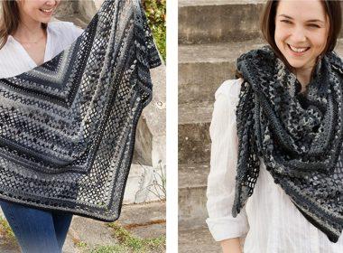 Polished Marble Crocheted Shawl [FREE Crochet Pattern] | thecrochetfox.com