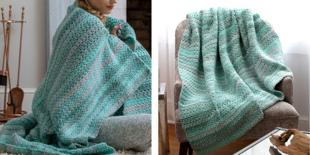 Pretty Arden Crochet Throw [FREE Crochet Pattern] | thecrochetfox.com