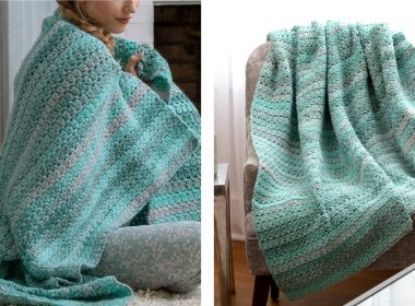 Pretty Arden Crochet Throw [FREE Crochet Pattern] | thecrochetfox.com