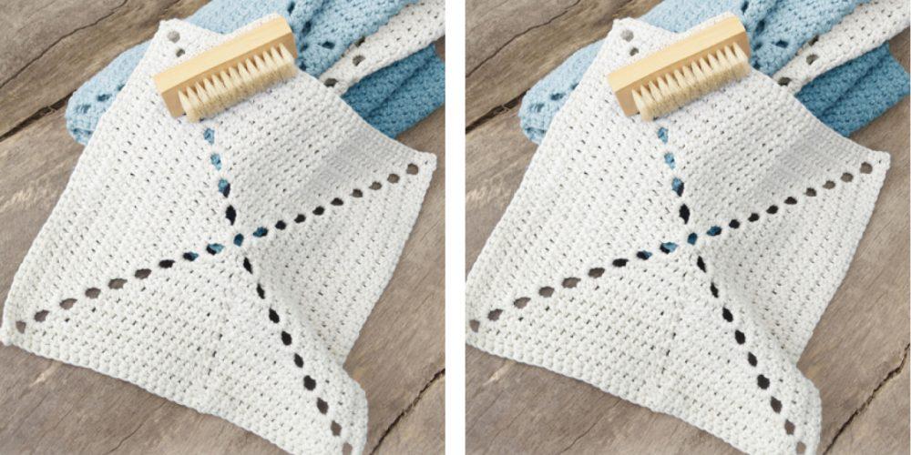 Pretty Crochet Washcloth [FREE Crochet Pattern] | thecrochetfox.com