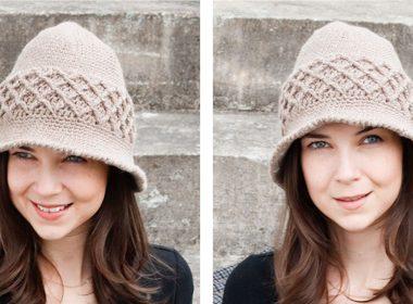 Quercus Cloche Crocheted Hat [FREE Crochet Pattern] | thecrochetfox.com