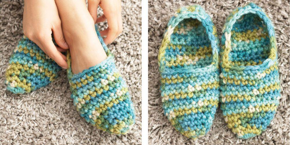 Quickie Crochet Slippers [FREE Crochet Pattern]   thecrochetfox.com
