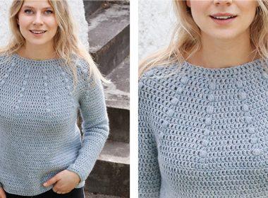 Rain Dance Crochet Sweater [FREE Crochet Pattern] | thecrochetfox.com