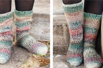 Rainbow Racers Crochet Socks [FREE Crochet Pattern]   thecrochetfox.com