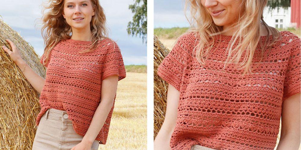 Red River Cave Top [FREE Crochet Pattern]   thecrochetfox.com