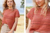 Red River Cave Top [FREE Crochet Pattern] | thecrochetfox.com
