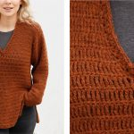 Rustic Roots Crochet V-Neck Sweater [FREE Crochet Pattern]