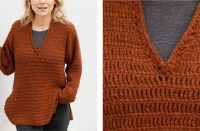 Rustic Roots Crochet V-Neck Sweater [FREE Crochet Pattern] | thecrochetfox.com