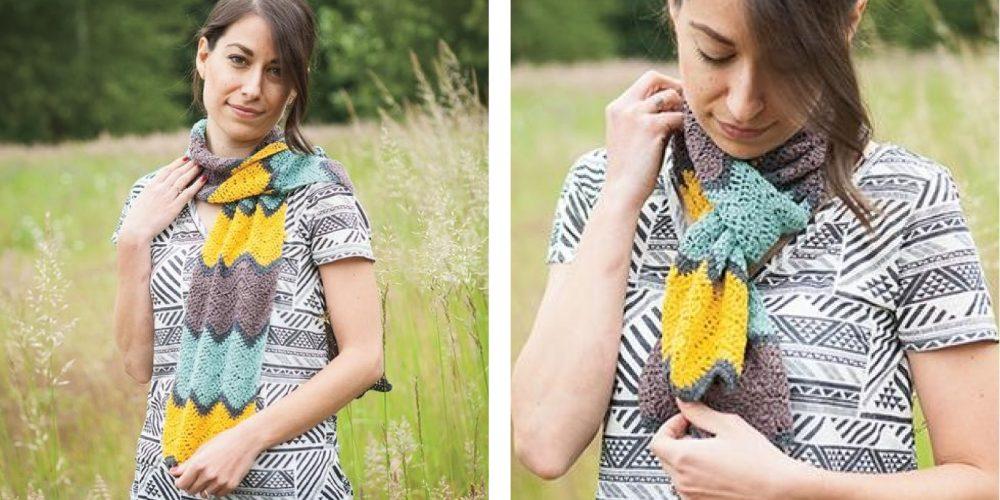 Seaside Promenade Crochet Scarf [FREE Crochet Pattern] | thecrochetfox.com