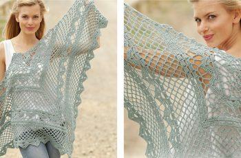 Stylish Crocheted See You Soon Shawl [FREE Crochet Pattern]   thecrochetfox.com