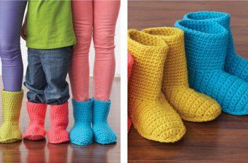Colorful Slipper Boots [FREE Crochet Pattern] | thecrochetfox.com