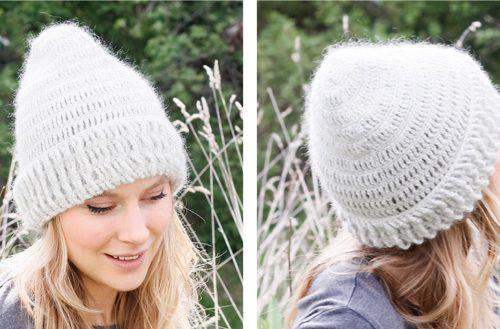 Snow Hood Crochet Hat | thecrochetfox.com