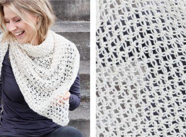 Snow Star Crochet Wrap [FREE Crochet Pattern] | thecrochetfox.com