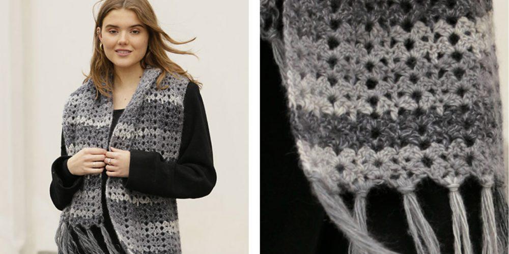 Snowflake Obsidian Crochet Scarf [FREE Crochet Pattern]   thecrochetfox.com