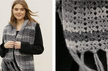 Snowflake Obsidian Crochet Scarf [FREE Crochet Pattern] | thecrochetfox.com