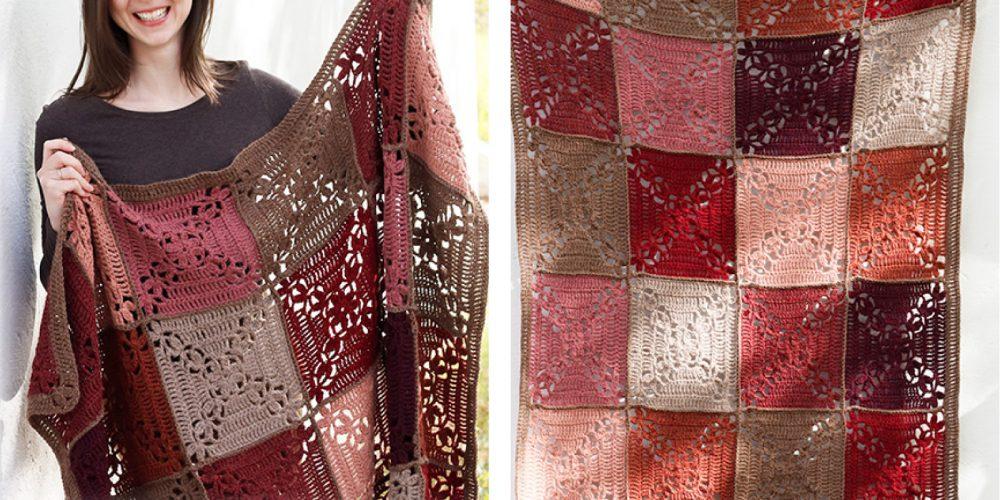 Sun Baked Tiles Crochet Blanket [FREE Crochet Pattern] | thecrochetfox.com