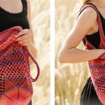 Cheery Sunset Shopper Crochet Bag [FREE Crochet Pattern]
