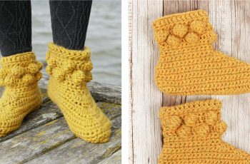 Radiant Slipping on Sunshine Crochet Socks [FREE Crochet Pattern] | thecrochetfox.com