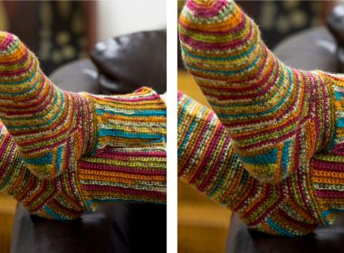 Vibrant Crochet Socks [FREE Crochet Pattern] | thecrochetfox.com