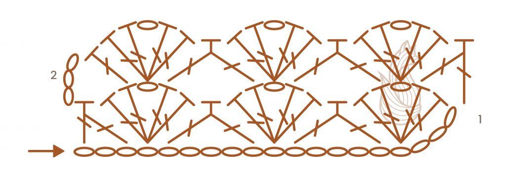 Open Scallops Stitch Chart