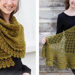 Delightful Irish Crochet Shawl [FREE Crochet Pattern]