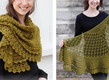 Delightful Irish Crochet Shawl [FREE Crochet Pattern] | thecrochetfox.com