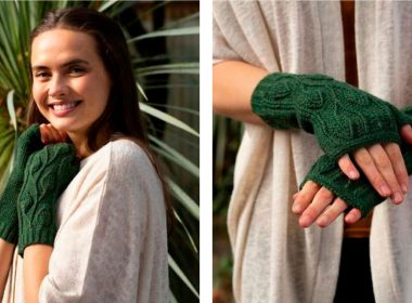 Crocheted Traveling Vines Mitts [FREE Crochet Pattern] | thecrochetfox.com
