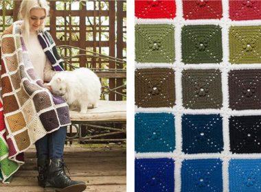Ultimate Crochet Palette Blanket [FREE Crochet Pattern] | thecrochetfox.com