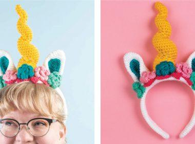 Unicorn Crochet Headband [FREE Crochet Pattern] | thecrochetfox.com