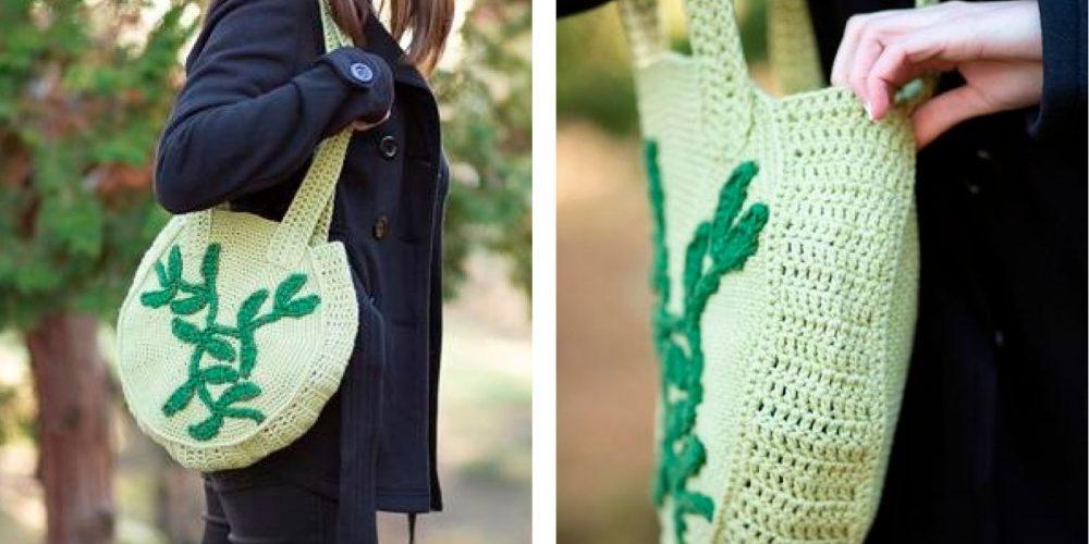 Vivid Verdura Crochet Bag [FREE Crochet Pattern] | thecrochetfox.com