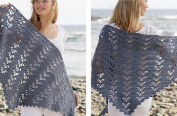 Wave Whisperer Crochet Shawl [FREE Crochet Pattern] | thecrochetfox.com
