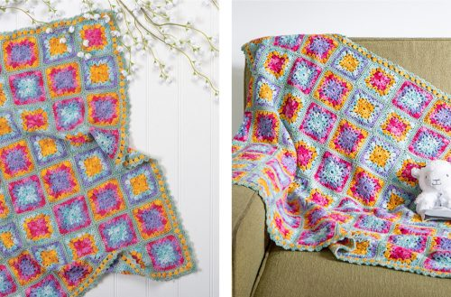 Delightful Wildflowers Crochet Baby Blanket [FREE Crochet Pattern] | thecrochetfox.com