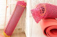 Yoga Time Crochet Mat Cover [FREE Crochet Pattern] | thecrochetfox.com