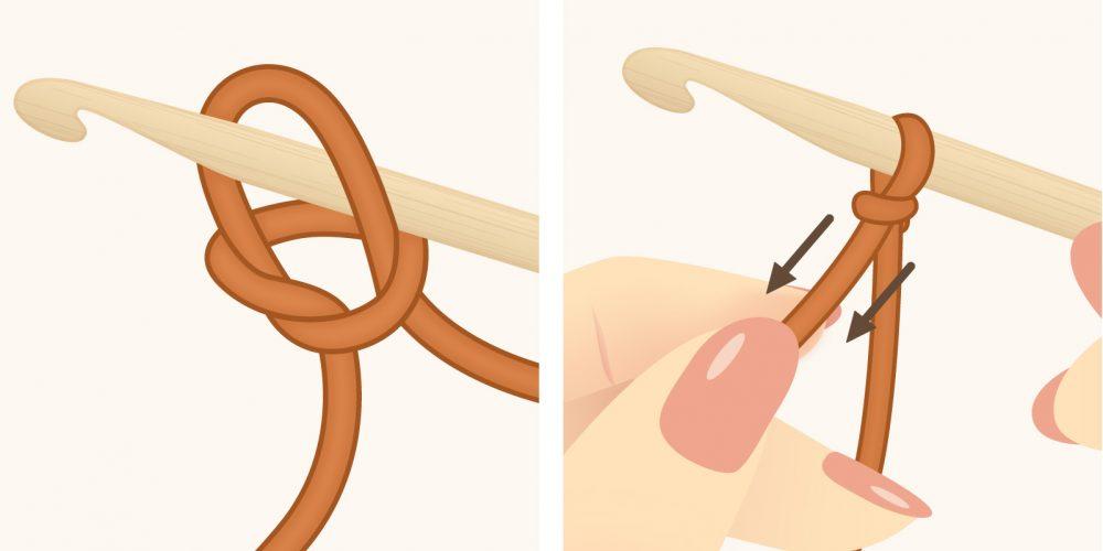 Crochet Slip Knot: How to Tie a Slip Knot in Crochet | thecrochetfox.com