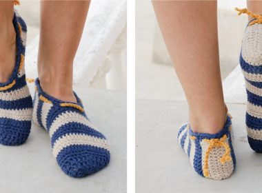 Happy Sailor Crocheted Slipper [FREE Crochet Pattern] | thecrochetfox.com
