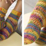 Toasty Heart & Sole Crochet Socks [FREE Crochet Pattern]