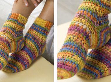 Toasty Heart & Sole Crochet Socks [FREE Crochet Pattern] | thecrochetfox.com